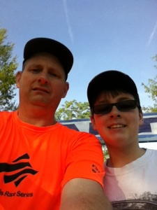 Me and Chase at the start line.