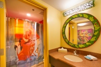 """Timon and Pumbaa make a splash in """"The Lion King"""" themed family suites at Disney's Art of Animation Resort. The new Lion King wing, opening Aug. 10, showcases Simba, Zazu and other familiar faces within rooms that reflect playful and poignant scenes from the Academy Award-winning animated film. Disney's Art of Animation Resort is located at Walt Disney World Resort in Lake Buena Vista, Fla. (Kent Phillips, photographer)"""